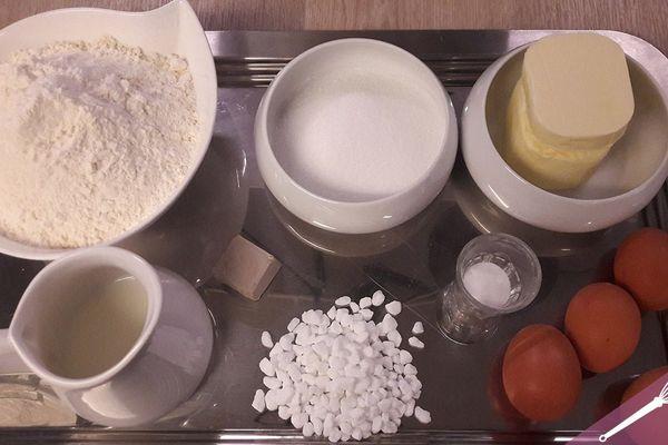Les ingrédients de la recette de la coquille de Noël