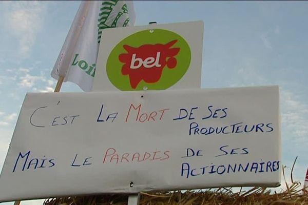 Les producteurs de lait de la région Centre-Val de Loire attendent une réaction rapide de la fromagerie Bel