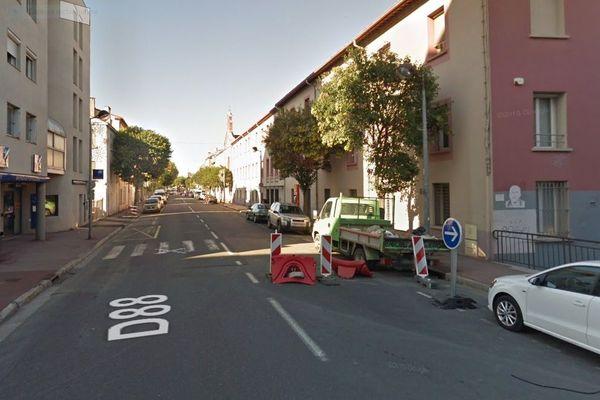 Avenue Joffre à Perpignan où se situe l'appartement du couple proxénète