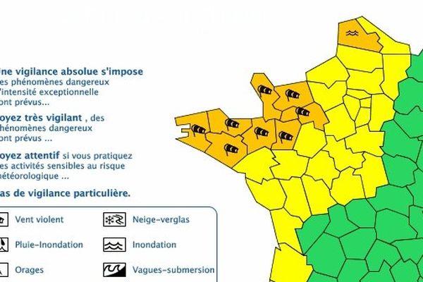 Vigilance météorologique - Vents violents :  Mayenne impactée