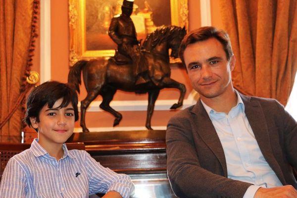 Marco Pérez et Juan Bautista : un très jeune torero et un tout jeune apoderado.