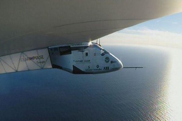 Solar Impulse au dessus de l'Atlantique