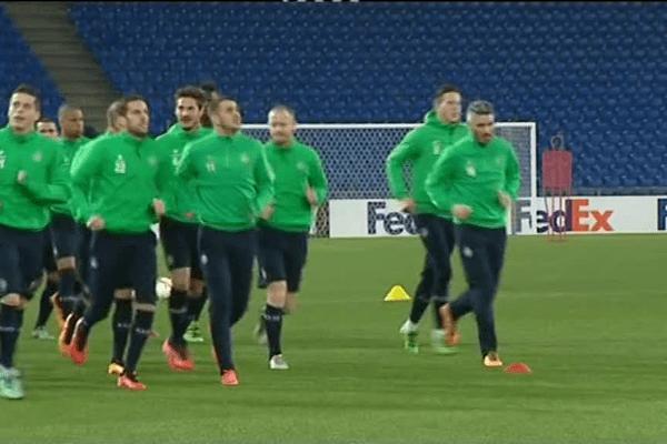 J-1 avant la rencontre avec le FC Bâle ... les Verts à l'entraînement - 24/2/16