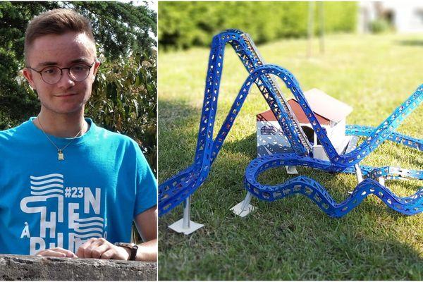 Roman Kennel, Haut-Marnais de 15 ans, reproduit ses manèges préférés du parc Nigloland en maquette