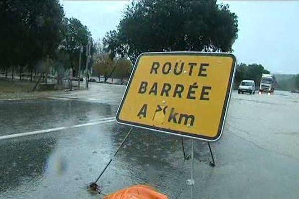 Plusieurs routes ont été coupées en Haute-Corse ce vendredi à cause des intempéries.