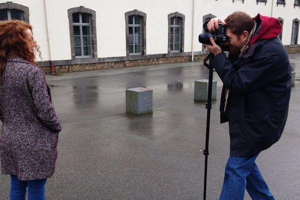 Pascal Sacleux a parcouru la Bretagne pour photographier les roux comme ici à Saint-Brieuc le 21 janvier 2018