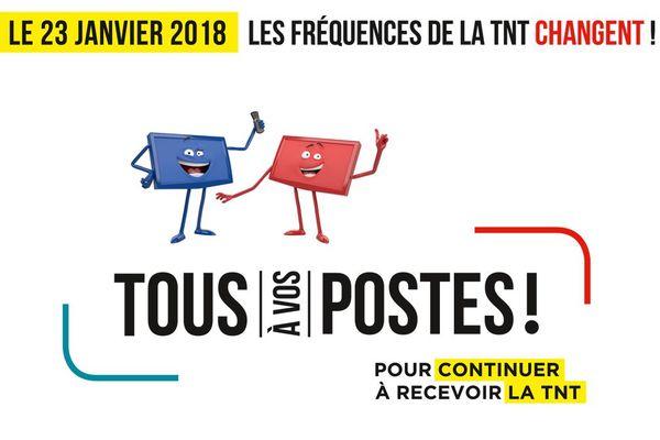 Les fréquences de la TNT changent le 23 janvier 2018