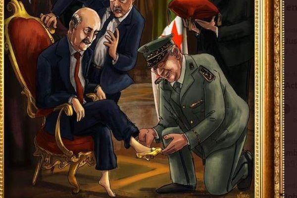 Le dessin qui a valu de la prison à Nime en Algérie.