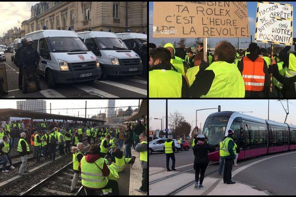 Les gilets jaunes étaient près de 6 000, selon la préfecture, à Dijon ce samedi.