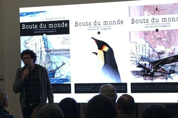 """William Mauxion présente sa revue """"Bouts du monde, carnets de voyageurs"""""""
