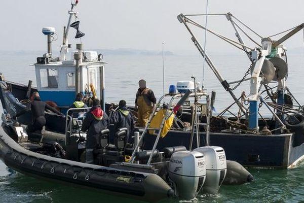 Au large de la Camargue, un pêcheur a ramené dans ses filets une bombe de 30 kg équivalent TNT datant de la seconde guerre mondiale. Le groupement de plongeur démineur est intervenu.(image d'illustration)