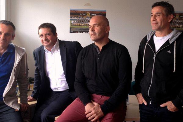 De gauche à droite : Serge Milhas, Jean-Jacques Castanet, Jean-Christophe Bacca et Philippe Bérot