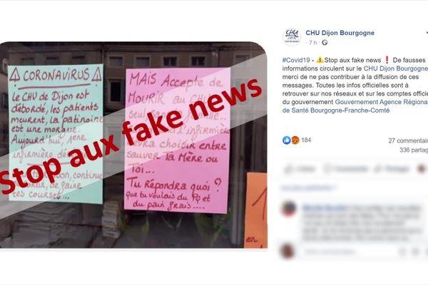 Une fausse information a été largement relayée ce week-end sur Facebook.