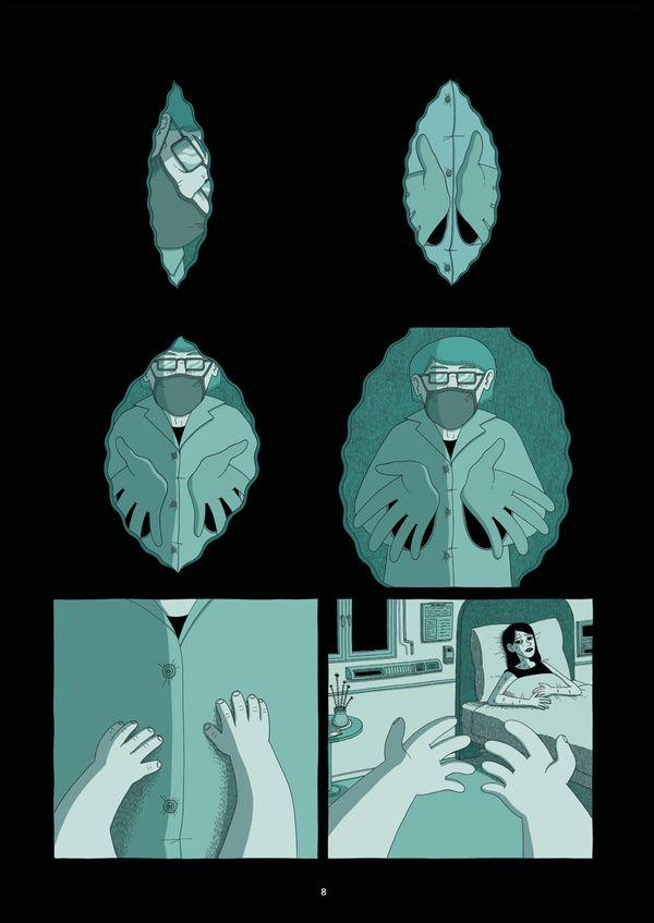 Un planche du roman graphique Le Spectateur