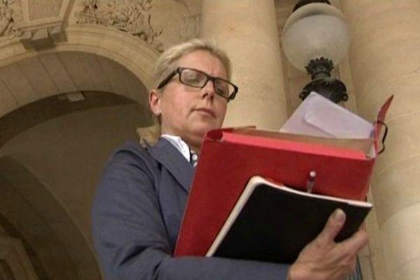 Patricia Chagnon devant le Conseil d'Etat, lorsqu'elle était du côté des plaignants.