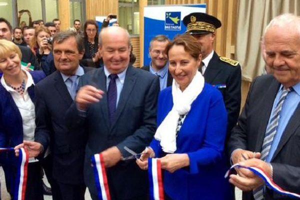 Ségolène Royal, Ministre de l'Ecologie, du Développement durable et de l'Energie, inaugure le nouveau lycée maritime de Saint-Malo (35)
