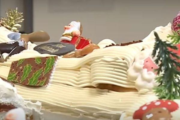 Une bûche de Noël confectionnée par Jacques Denis, maître chocolatier à Migliacciaru.