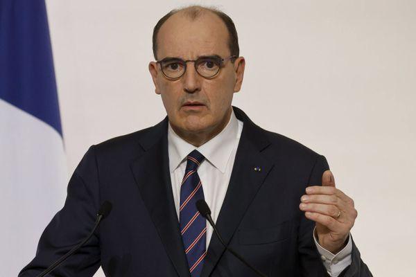 Le Premier ministre Jean Castex durant sa conférence de presse de jeudi. Ludovic Marin / POOL / AFP