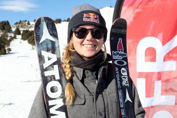 Tess Ledeux à Font-Romeu le 12 janvier 2017.