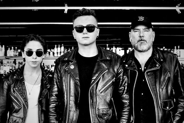 """JS et ses deux fils Rod et Mat (à gauche et au centre) ont monté leur groupe de métal """"Redemption"""" en 2017."""