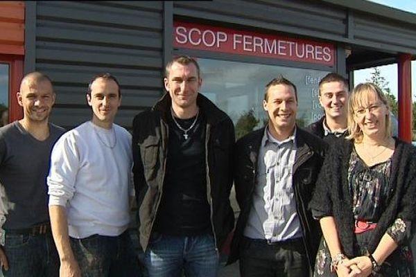 Les six sociétaires de Scop fermetures