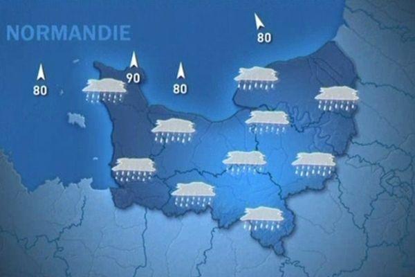 Un vendredi 14 décembre sous la pluie en Normandie