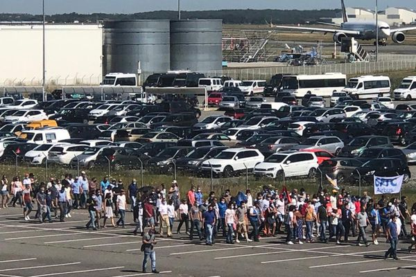 manifestation des salariés d'Airbus