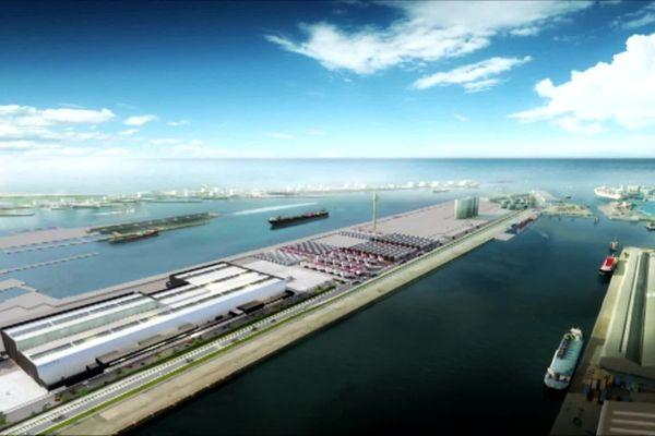 Le projet des usines d'éoliennes sur le quai Couvert au Havre