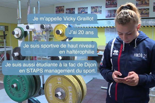 En Côte-d'Or, rencontre avec Vicky, sportive de haut niveau.