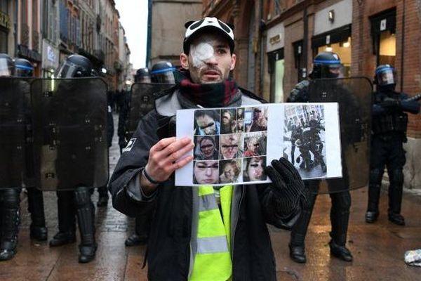 Un gilet jaune blessé à Toulouse le 02 février 2019