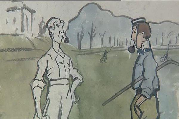 """L'aquarelle """"Cycles X"""" de Fernan Léger sera exposée dans le futur musée consacré au peintre et à son ami André Mare à Argentan"""