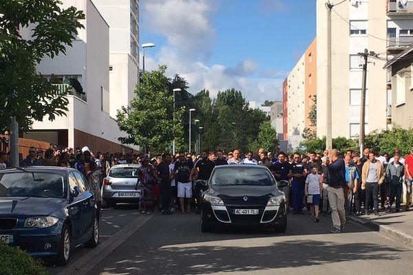 Marche blanche au Breil à Nantes en hommage au jeune tué le 3 juillet 2018