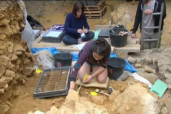 Un chantier de fouilles à Domme, en 2016.