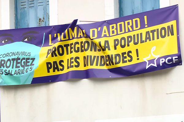 Pas de manifestation à Pau mais des affiches ...