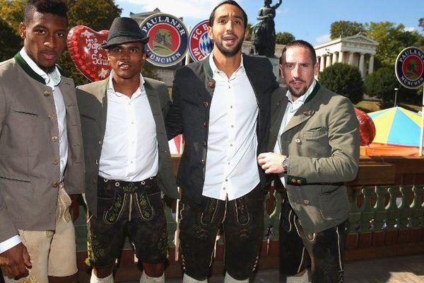 Kingsley Coman, Douglas Costa, Medhi Benatia et French midfielder Franck Ribery