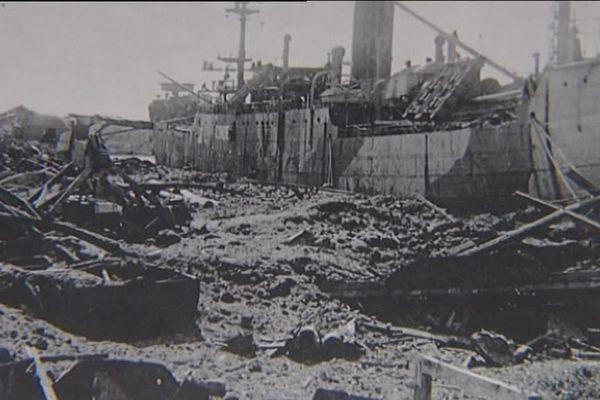 Nice après le bombardement du 26 mai 1944