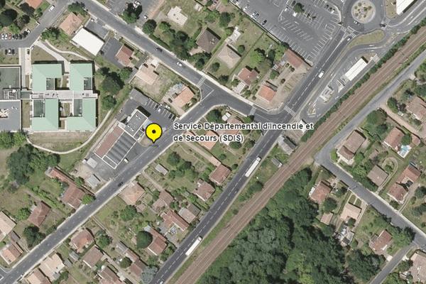 Caserne des pompiers à Coutras en Gironde