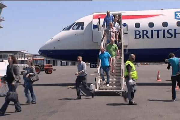 Plusieurs fois par semaine à la belle saison, British Airway exploite une ligne Angers - Londres.