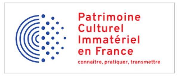 """Logo """"Patrimoine culturel immatériel dela France""""."""
