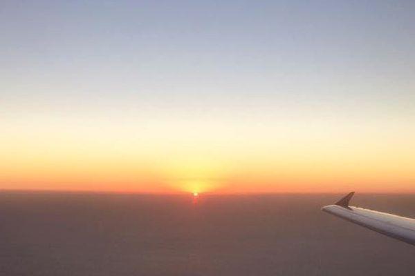 Une fois n'est pas coutume, une photo à bord de l'avion Marseille Ajaccio