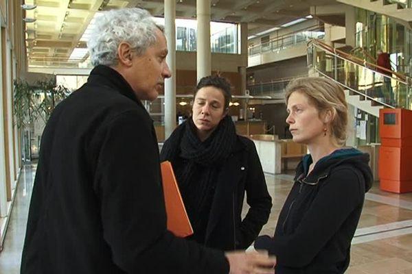 la militante et son avocat au tribuanl de Montpellier