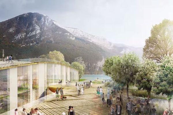 Projet ambitieux, le centre des congrès d'Annecy est un projet de 10 000 m² au bord du lac.