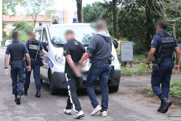 Sept interpellations dans le quartier Drouot de Mulhouse dans le cadre d'un démantèlement de trafic de drogue