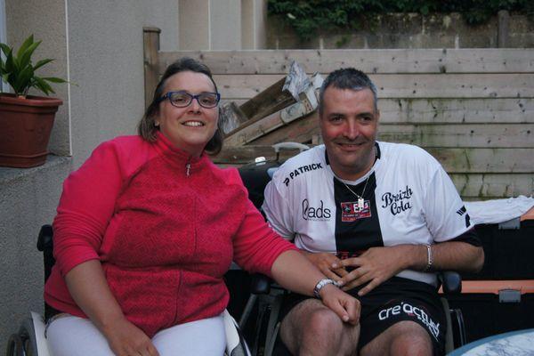 Sophie et Guillaume Bellec, souffrent tous les deux d'une paralysie cérébrale.