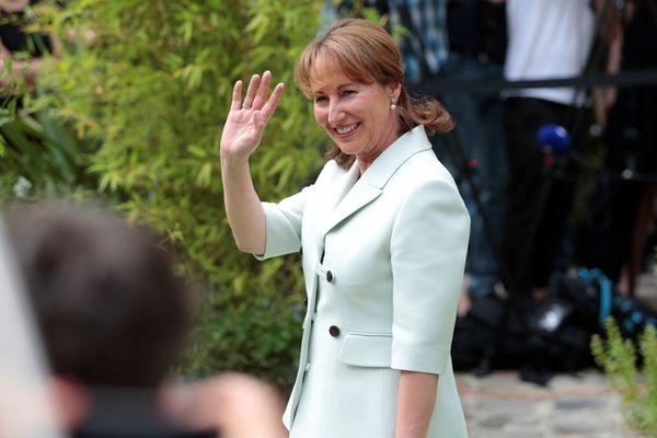 Ségolène Royal à son départ du ministère de l'Écologie, en mai 2017
