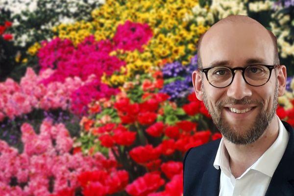 Florent Moreau fleuriste à Saint-Laurent-sur-Sèvre en Vendée et nouveau Président de la Fédération Française des Fleuristes
