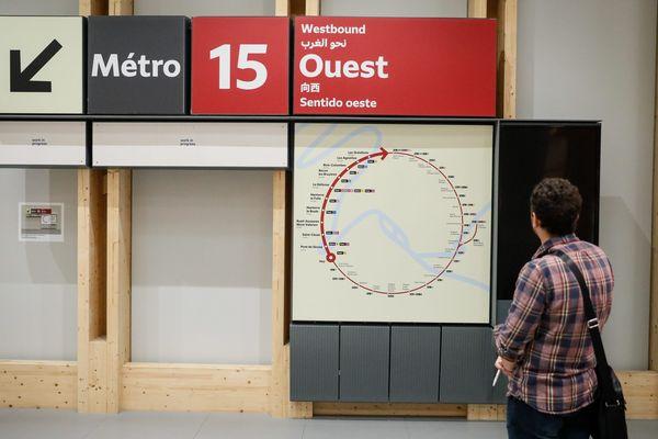 Une station témoin du Grand Paris Express.