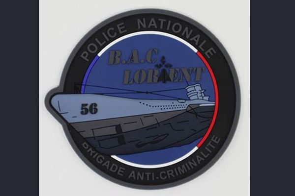Le sous-marin représenté sur ce projet d'écusson des policiers de la BAC de Lorient est un U-Boot du IIIe Reich pendant la Seconde Guerre mondiale