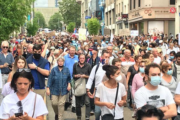 Manifestation anti-pass sanitaire à Nancy, samedi 24 juillet 2021.