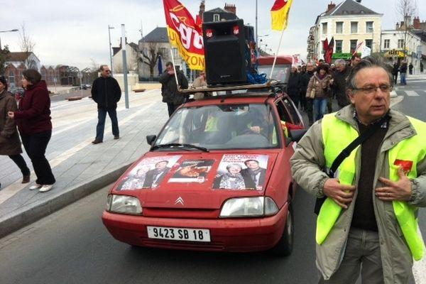 Manifestation à Vierzon